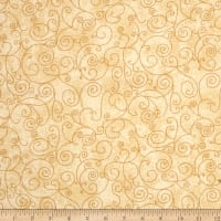 "Westrade 110"" Wide Flannel Quilt Back Willow Ivory"