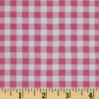 Oilcloth Gingham Powder Pink