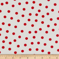 Oilcloth Polka Dot White/Red