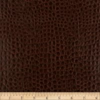 Faux Leather Crocodile Brown