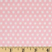 Shannon Minky Cuddle Swiss Dot Blush/Snow