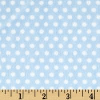 Shannon Minky Cuddle Swiss Dot Baby Blue