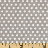 Shannon Minky Cuddle Swiss Dot Silver/Snow