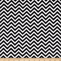 Shannon Minky Cuddle Mini Chevron Black/Snow