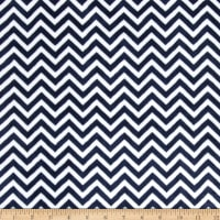 Shannon Minky Cuddle Mini Chevron Navy/Snow