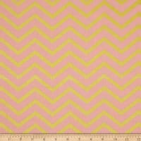 Michael Miller Glitz Metallic Sleek Chevron Pearlized Blush