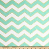 Michael Miller Glitz Metallic Chic Chevron Pearlized Mist