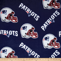 NFL Fleece New England Patriots Tossed Helmets Blue