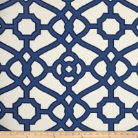 P Kaufmann Indoor/Outdoor Pavilion Fretwork Navy
