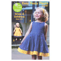 Olive Ann Designs Easy Peazy Pleats Dress & Doll Dress Pattern