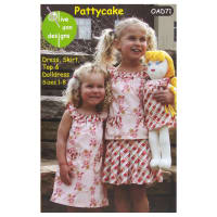 Olive Ann Designs Pattycake Dress, Skirt, Top & Doll Dress Pattern