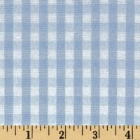 "60"" Cotton Blend Woven 1/4'' Gingham Blue"
