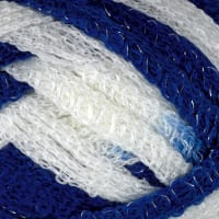 Red Heart Boutique Yarn Sashay Team Spirit Yarn Royal/White