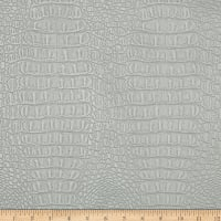 Faux Leather Metallic Gator Silver