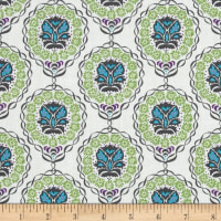 Valori Wells Quill Medallion Strand Olive Leaf Green/ Turquoise