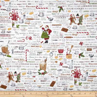 Holly Jolly Christmas Words Antique White