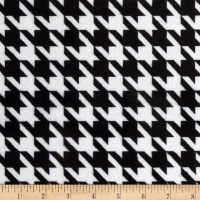 E.Z. Fabric Minky Houndstooth Black/White