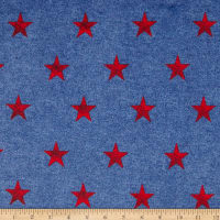 Minky Stars Blue/Red