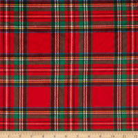 E.Z. Fabric Minky Classic Plaid Red