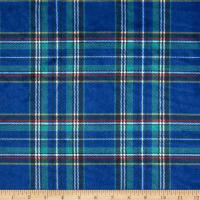 E.Z. Fabric Minky Classic Plaid Navy
