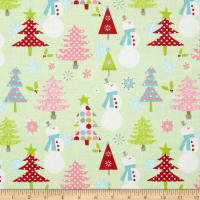 Riley Blake Christmas Basics Main Lime