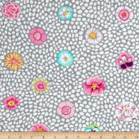 Kaffe Fassett Collective Quarry Guinea Flower Grey