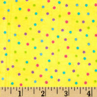 Flannel Dots Multi/Yellow