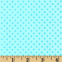 Flannel Dots Turquoise