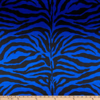 Charmeuse Satin Zebra Royal