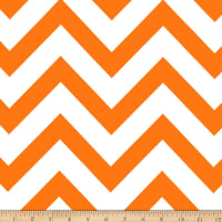 Mi Amor Duchess Satin Chevron Orange/White