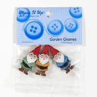 Dress It Up Embellishment Buttons Garden Gnomes
