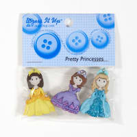 Dress It Up Embellishment Buttons Pretty Princesses