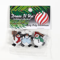 Dress It Up Embellishment Roly Poly Snowmen