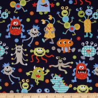Michael Miller It's A Boy Thing Monster Mash Navy