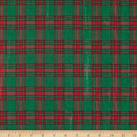 Holiday Blitz Medium Plaid Green/Red