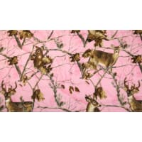 Realtree Deer Allover Print Fleece Pink