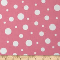 Cozy Cotton Flannel Dots Pink/White