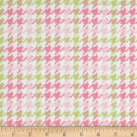 Cozy Cotton Flannel Houndstooth Pink