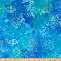 Michael Miller Batik Sea Turtles Turquoise