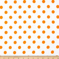 Fabric Merchants Cotton Jersey Knit Polka Dots Orange