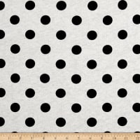 Fabric Merchants Cotton Jersey Knit Polka Dots Black