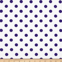 Cotton Jersey Knit Polka Dots Purple