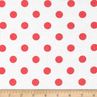 Fabric Merchants Cotton Jersey Knit Polka Dots Red