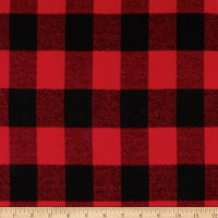 Kaufman Mammoth Flannel Buffalo Plaid Medium Red