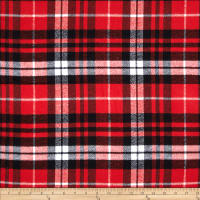 Kaufman Mammoth Flannel Plaid Scarlet