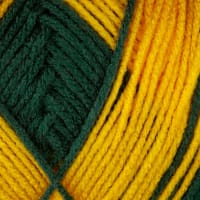 Red Heart Team Spirit Yarn (948) Green/Gold