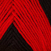 Red Heart Team Spirit Yarn (952) Red/Black