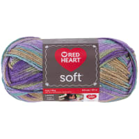 Red Heart Soft Yarn (9941) Watercolors