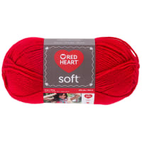Red Heart Soft Yarn (5142) Cherry Red