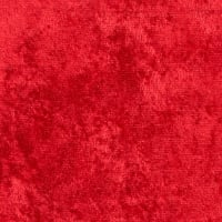 Crushed Panne Velour Red